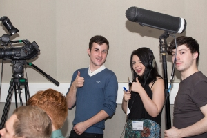 TV students cover masterclass at BBC Scotland (photo credit Chloe MacLeod)